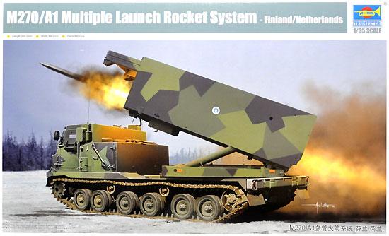 M270/A1 MLRS 多連装ロケットシステム フィンランド / オランダ陸軍プラモデル(トランペッター1/35 AFVシリーズNo.01047)商品画像