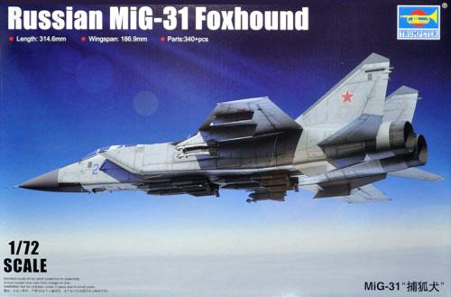 ロシア MiG-31 フォックスハウンドプラモデル(トランペッター1/72 エアクラフト プラモデルNo.01679)商品画像