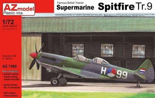 スーパーマリン スピットファイア Tr.9プラモデル(AZ model1/72 エアクラフト プラモデルNo.AZ7560)商品画像