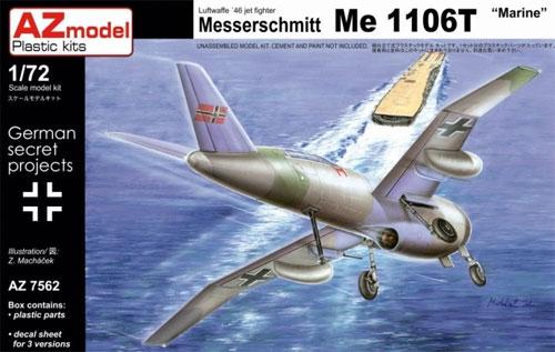 メッサーシュミット Me1106T 海軍プラモデル(AZ model1/72 エアクラフト プラモデルNo.AZ7562)商品画像