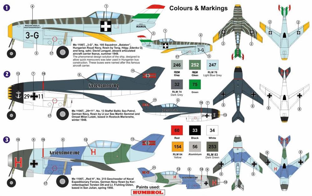 メッサーシュミット Me1106T 海軍プラモデル(AZ model1/72 エアクラフト プラモデルNo.AZ7562)商品画像_1