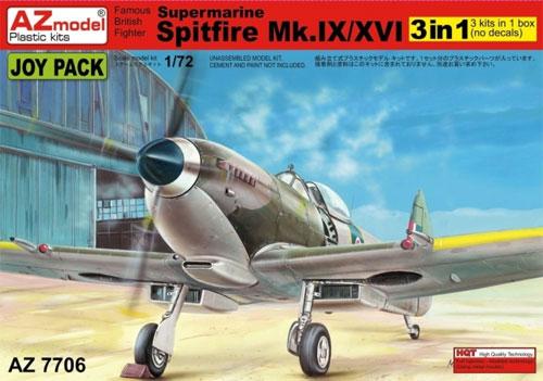 スーパーマリン スピットファイア Mk.9/16 ジョイパックプラモデル(AZ model1/72 エアクラフト プラモデルNo.AZ7706)商品画像