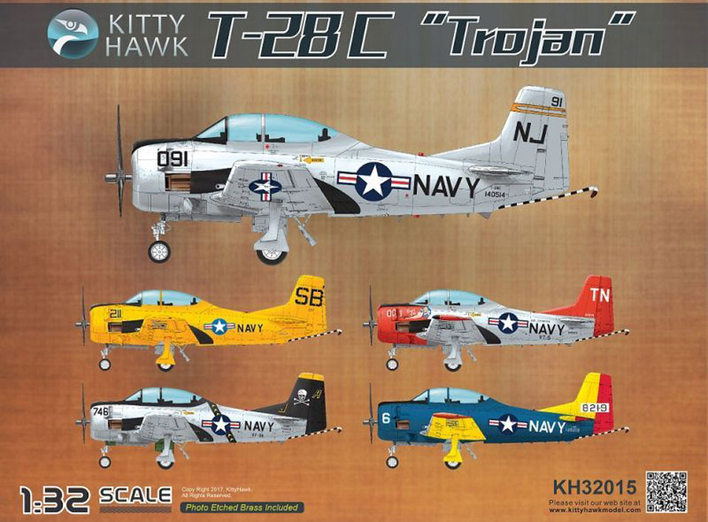 T-28C トロージャンプラモデル(キティホーク1/32 エアモデルNo.KH32015)商品画像_1