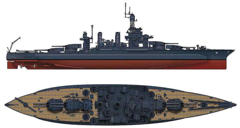 アメリカ海軍 コロラド級戦艦 BB-46 メリーランド 1945プラモデル(ピットロード1/700 スカイウェーブ W シリーズNo.W199)商品画像_1