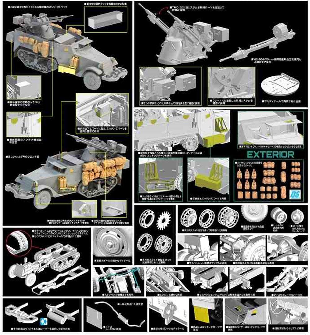 IDF M3ハーフトラック TCM-20 対空システム搭載型プラモデル(ドラゴン1/35 MIDDLE EAST WAR SERIESNo.3586)商品画像_2