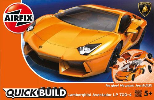 ランボルギーニ アヴェンタドール LP700-4 (オレンジ)プラモデル(エアフィックスクイックビルド (QUICKBUILD)No.6007)商品画像