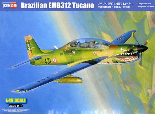 ブラジル空軍 EMB-312 ツカノプラモデル(ホビーボス1/48 エアクラフト プラモデルNo.81763)商品画像