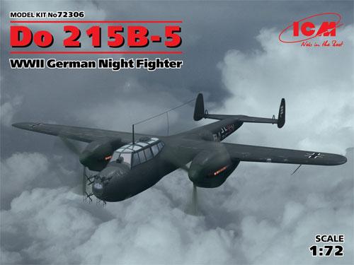 ドルニエ Do215B-5 夜間戦闘機プラモデル(ICM1/72 エアクラフト プラモデルNo.72306)商品画像