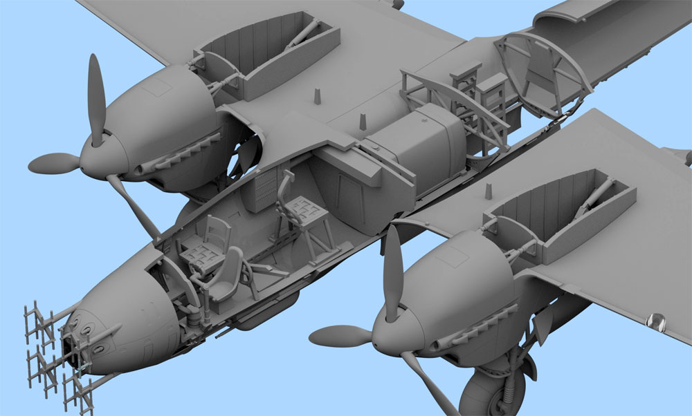 ドルニエ Do215B-5 夜間戦闘機プラモデル(ICM1/72 エアクラフト プラモデルNo.72306)商品画像_3