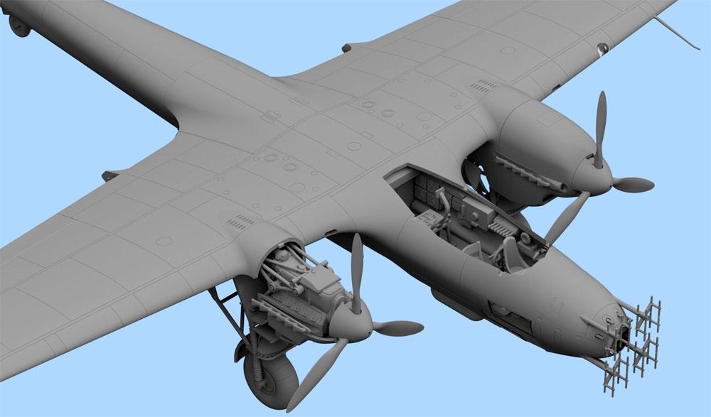 ドルニエ Do215B-5 夜間戦闘機プラモデル(ICM1/72 エアクラフト プラモデルNo.72306)商品画像_4