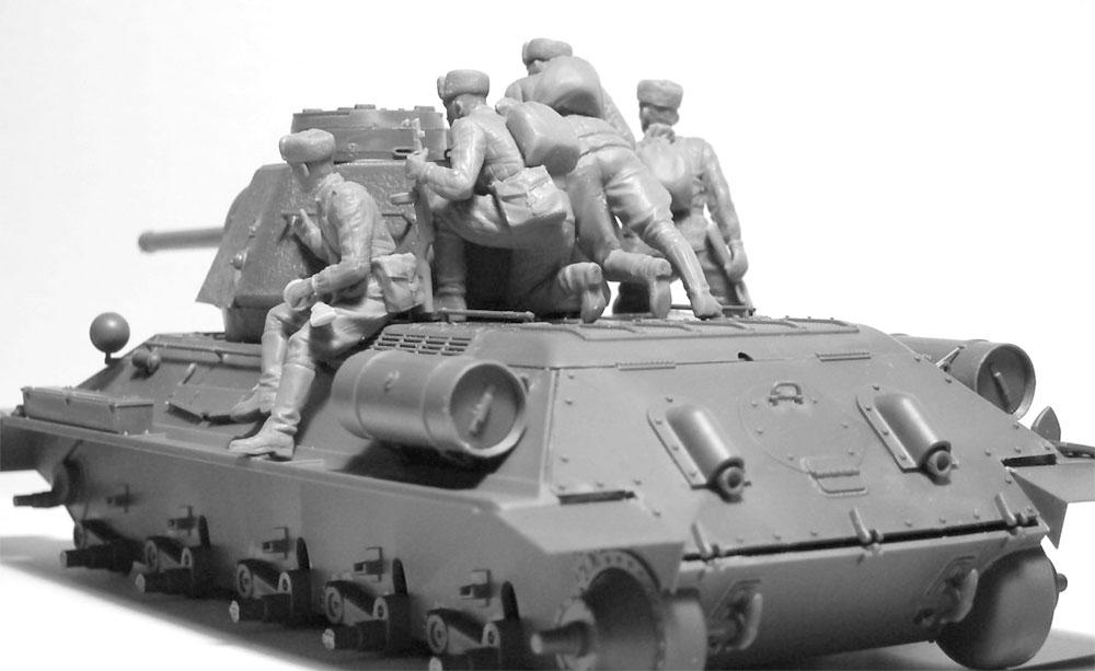 ソビエト T-34/76 w/戦車搭乗兵プラモデル(ICM1/35 ミリタリービークル・フィギュアNo.35368)商品画像_2