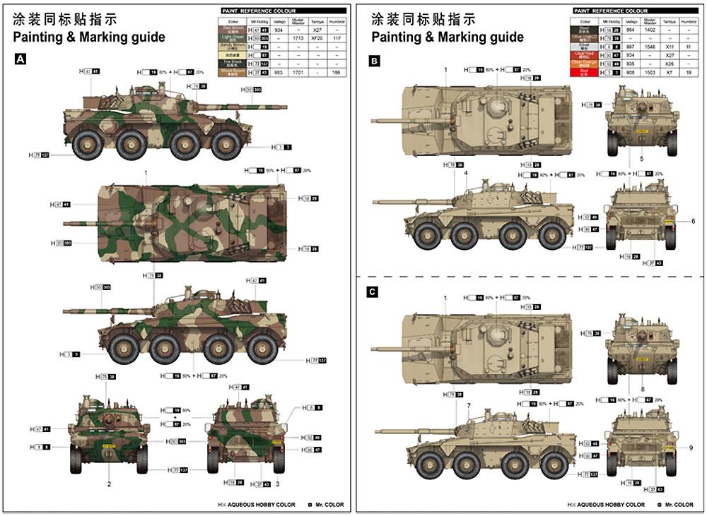 南アフリカ軍 ロイカット 8輪装甲車プラモデル(トランペッター1/35 AFVシリーズNo.09516)商品画像_2