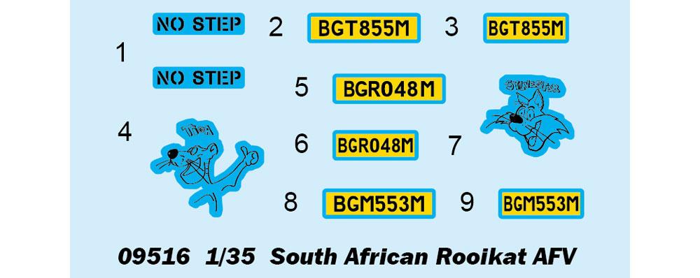 南アフリカ軍 ロイカット 8輪装甲車プラモデル(トランペッター1/35 AFVシリーズNo.09516)商品画像_3