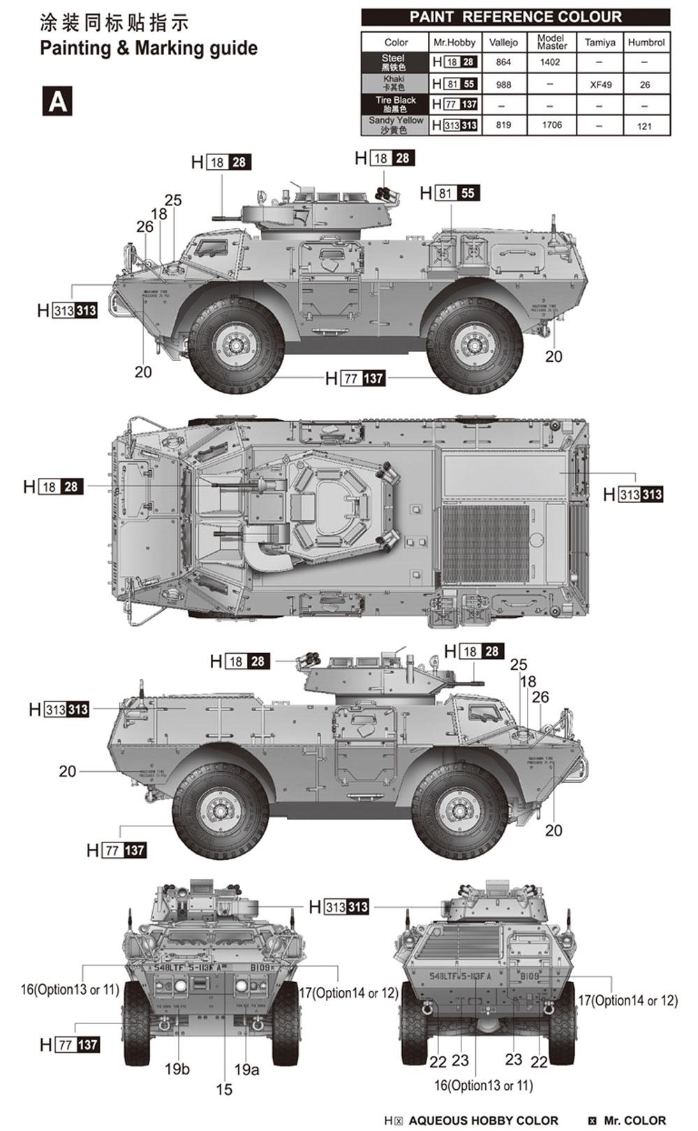 M1117 ガーディアン 装甲警備車 (ASV)プラモデル(トランペッター1/72 AFVシリーズNo.07131)商品画像_2