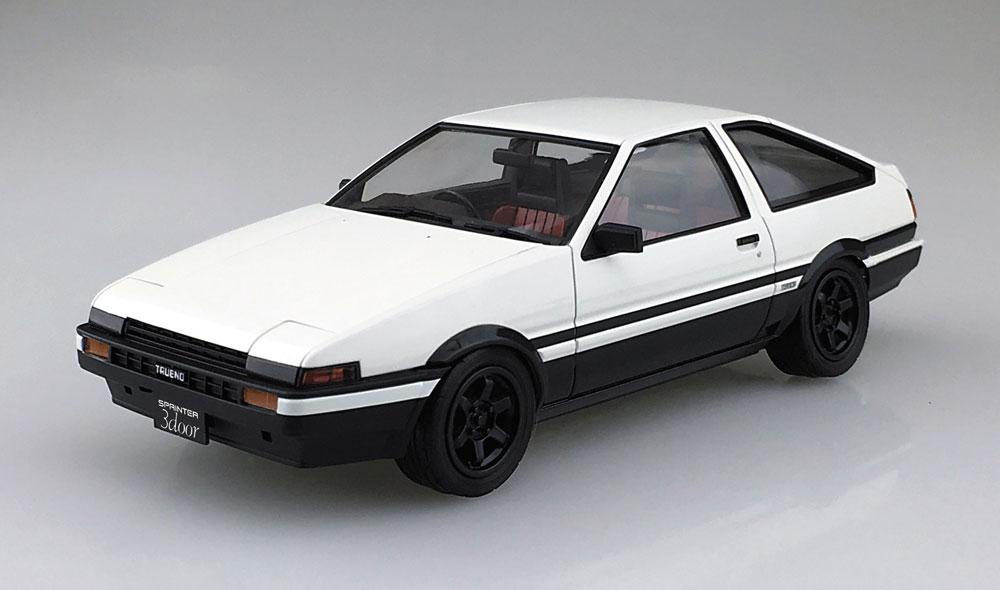 トヨタ AE86 トレノ '83 (ホワイト/ブラック)プラモデル(アオシマ1/24 プリペイントモデル シリーズNo.4905083053140)商品画像_2