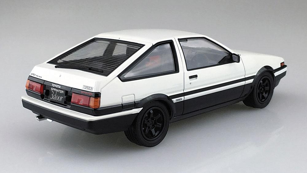 トヨタ AE86 トレノ '83 (ホワイト/ブラック)プラモデル(アオシマ1/24 プリペイントモデル シリーズNo.4905083053140)商品画像_3
