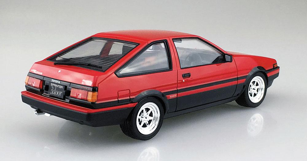 トヨタ AE86 トレノ '83 (レッド/ブラック)プラモデル(アオシマ1/24 プリペイントモデル シリーズNo.4905083053157)商品画像_3