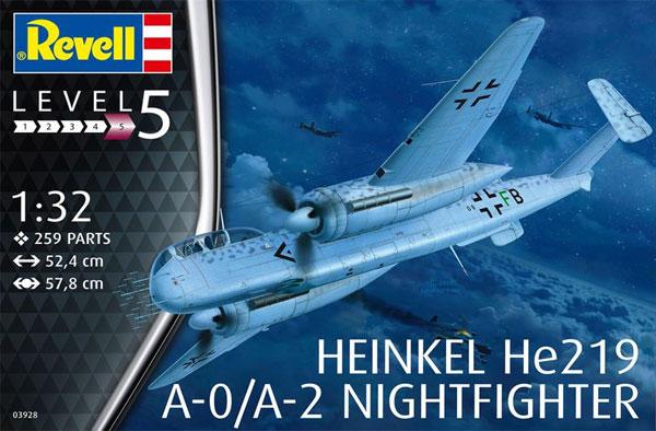 ハインケル He219A-0/A-2 夜間戦闘機プラモデル(レベル1/32 AircraftNo.03928)商品画像