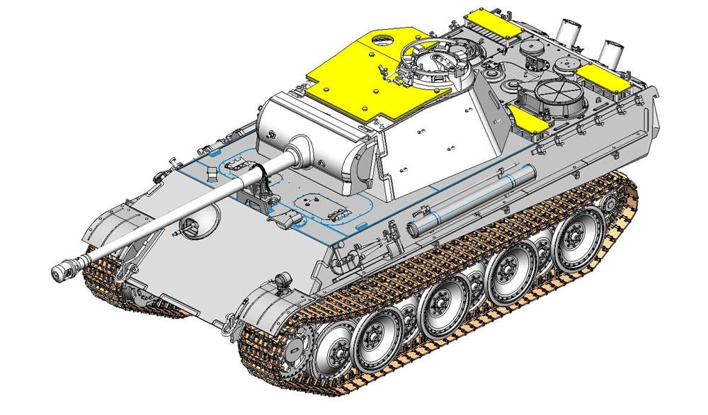 ドイツ パンターG型 後期生産型 対空装甲砲塔装備型プラモデル(ドラゴン1/35 '39-'45 SeriesNo.6897)商品画像_3