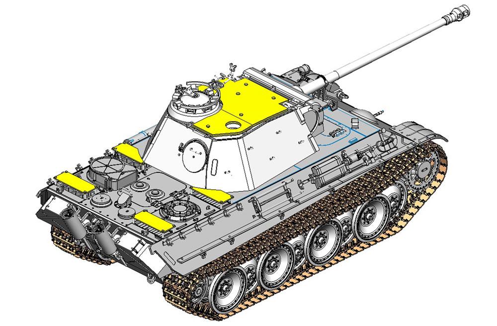 ドイツ パンターG型 後期生産型 対空装甲砲塔装備型プラモデル(ドラゴン1/35 '39-'45 SeriesNo.6897)商品画像_4