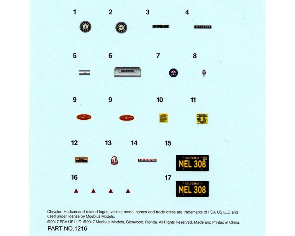 メルズ・ドライブイン ハドソン・ホーネット 1952年プラモデル(メビウスメビウス プラスチックモデル組立キットNo.1216)商品画像_4