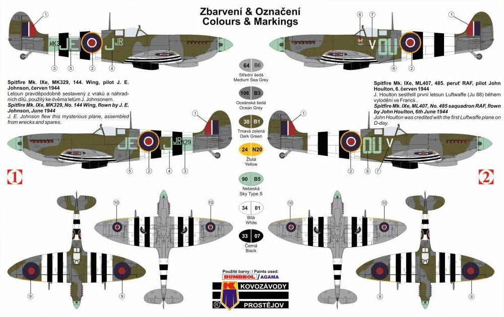 スーパーマリン スピットファイア Mk.9 RAFプラモデル(KPモデル1/72 エアクラフト プラモデルNo.KPM0083)商品画像_1