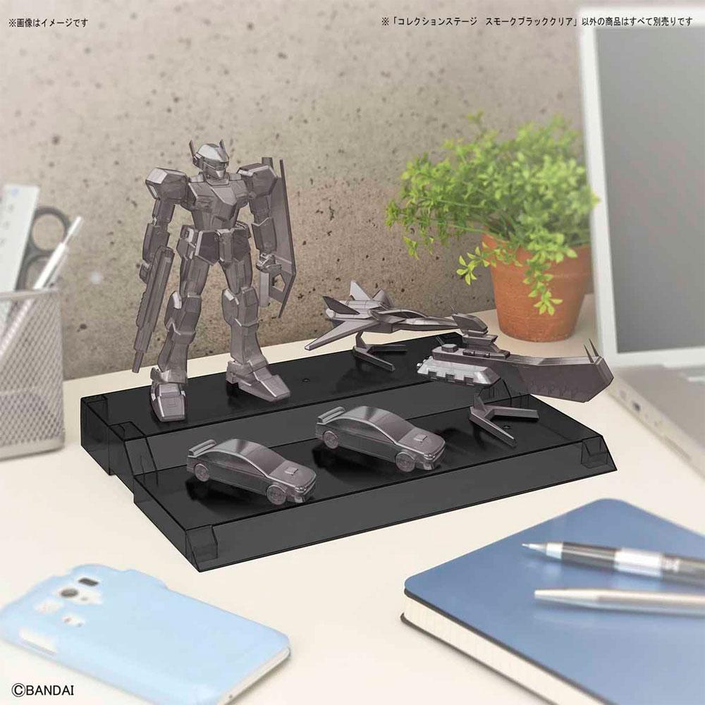 コレクションステージ スモークブラッククリアディスプレイ台(バンダイコレクションステージNo.2390709)商品画像_1