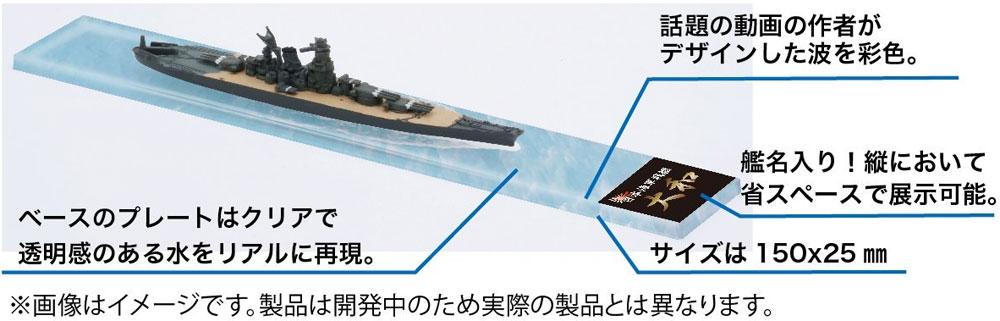 川内型 (川内/神通/那珂) 展示用 波 艦名ベースネームプレート(フジミ艦名プレートシリーズNo.254)商品画像_4