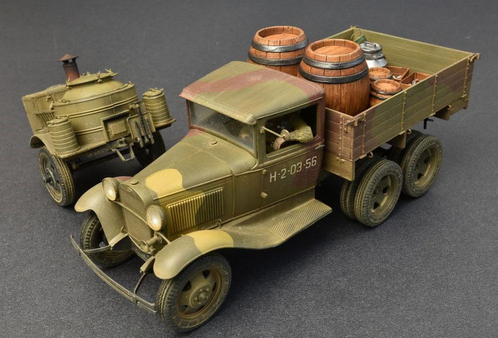 ソビエト 2トン トラック AAA型 フィールドキッチン付プラモデル(ミニアート1/35 WW2 ミリタリーミニチュアNo.35257)商品画像_1