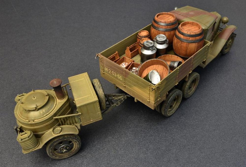 ソビエト 2トン トラック AAA型 フィールドキッチン付プラモデル(ミニアート1/35 WW2 ミリタリーミニチュアNo.35257)商品画像_3