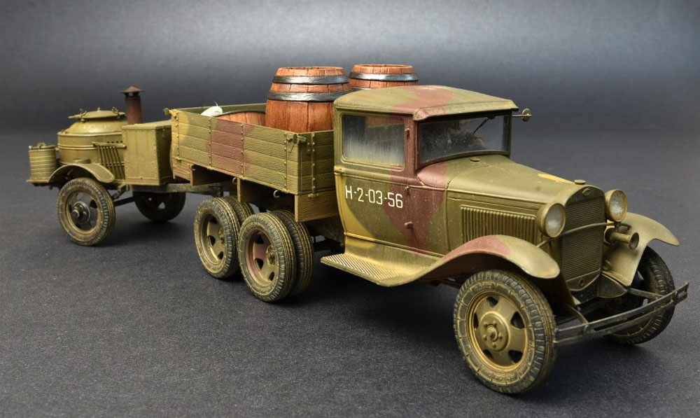 ソビエト 2トン トラック AAA型 フィールドキッチン付プラモデル(ミニアート1/35 WW2 ミリタリーミニチュアNo.35257)商品画像_4
