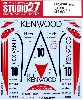 ポルシェ 962C ケンウッド #10 JSPC 1988 デカール