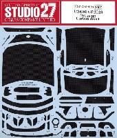 スタジオ27ツーリングカー/GTカー カーボンデカールトヨタ 86 GT 2016 ドレスアップ カーボンデカール