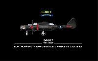 グレートウォールホビー1/48 ミリタリーエアクラフト プラモデルP-61A ブラックウィドウ ロケットランチャー付き