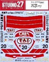 スタジオ27ツーリングカー/GTカー オリジナルデカールポルシェ 962C FAT #20 WSPC ドニントン 1990 デカール