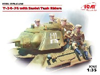 ICM1/35 ミリタリービークル・フィギュアソビエト T-34/76 w/戦車搭乗兵