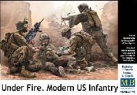 マスターボックス1/35 ミリタリーミニチュアアメリカ 現用兵士 中東 銃撃戦