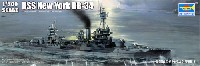 トランペッター1/700 艦船シリーズアメリカ海軍 戦艦 BB-34 ニューヨーク