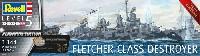 レベル1/144 艦船モデルフレッチャー級駆逐艦 (プラチナエディション)