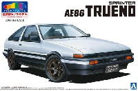 アオシマ1/24 プリペイントモデル シリーズトヨタ AE86 トレノ '83 (ホワイト/ブラック)