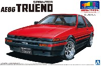 アオシマ1/24 プリペイントモデル シリーズトヨタ AE86 トレノ '83 (レッド/ブラック)
