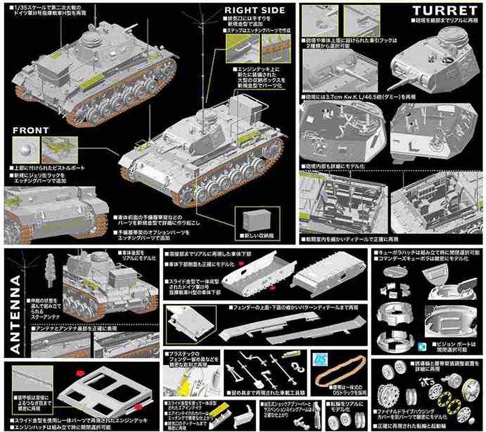 ドイツ アフリカ軍団 3号指揮戦車 H型プラモデル(ドラゴン1/35 '39-'45 SeriesNo.6901)商品画像_4