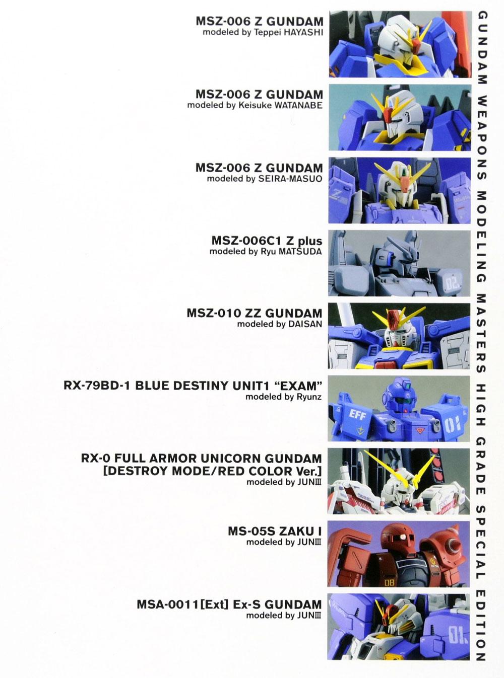 ガンダムウェポンズ モデリングマスターズ HG 編本(ホビージャパンGUNDAM WEAPONS (ガンダムウェポンズ)No.68149-15)商品画像_1