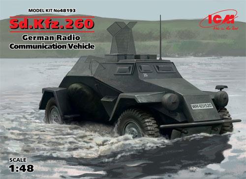 Sd.Kfz.260 ドイツ 無線装甲車プラモデル(ICM1/48 ミリタリービークルNo.48193)商品画像