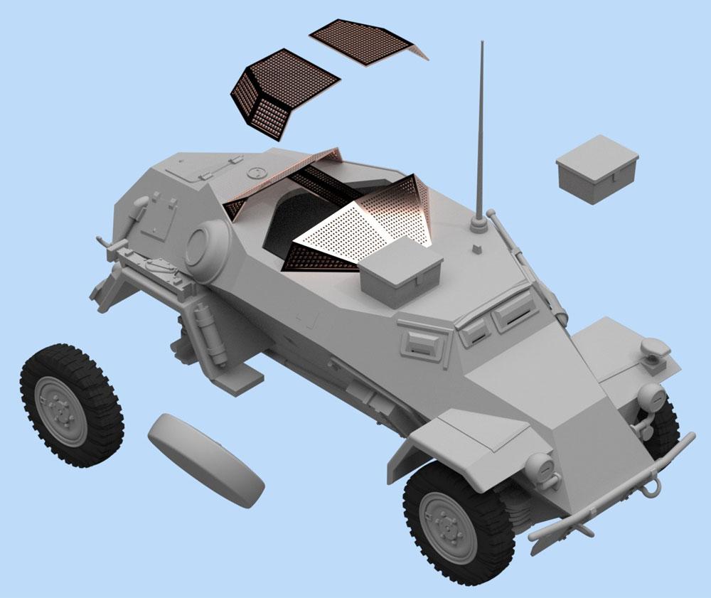 Sd.Kfz.260 ドイツ 無線装甲車プラモデル(ICM1/48 ミリタリービークルNo.48193)商品画像_2