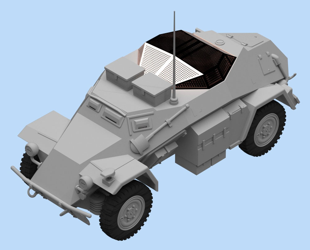 Sd.Kfz.260 ドイツ 無線装甲車プラモデル(ICM1/48 ミリタリービークルNo.48193)商品画像_3