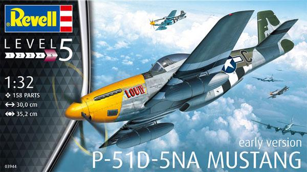 P-51D-5NA ムスタング 初期型プラモデル(レベル1/32 AircraftNo.03944)商品画像