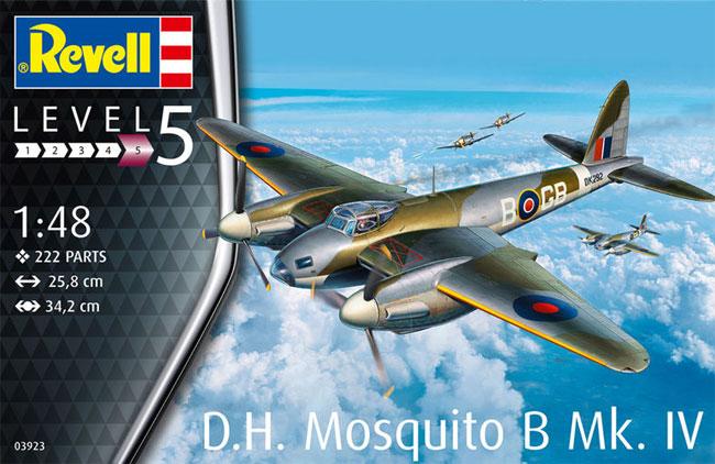 D.H. モスキート Mk.4 爆撃機プラモデル(レベル1/48 飛行機モデルNo.03923)商品画像