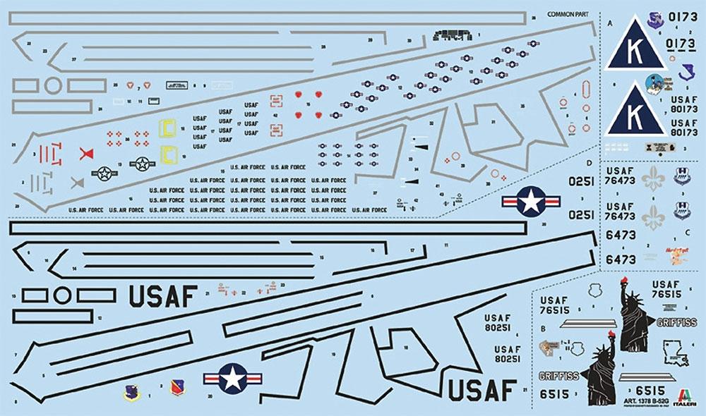 B-52G ストラトフォートレスプラモデル(イタレリ1/72 航空機シリーズNo.1378)商品画像_2