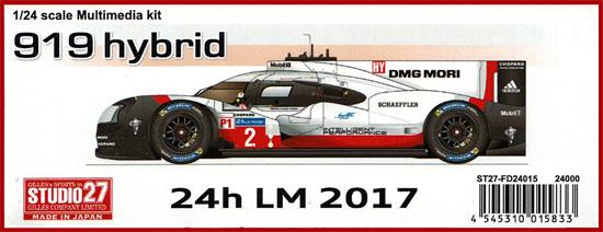 ポルシェ 919 ハイブリッド ル・マン 2017レジン(スタジオ27ツーリングカー/GTカー オリジナルキットNo.FD24015)商品画像